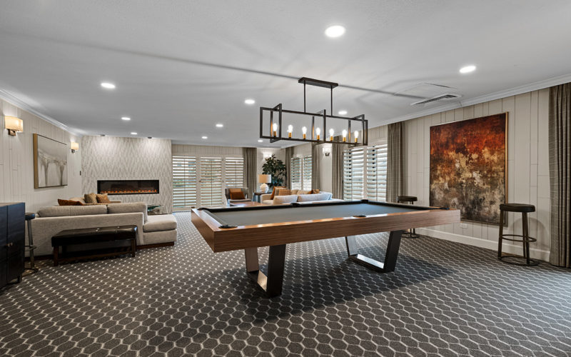 Ambassador East - pool table and rec area